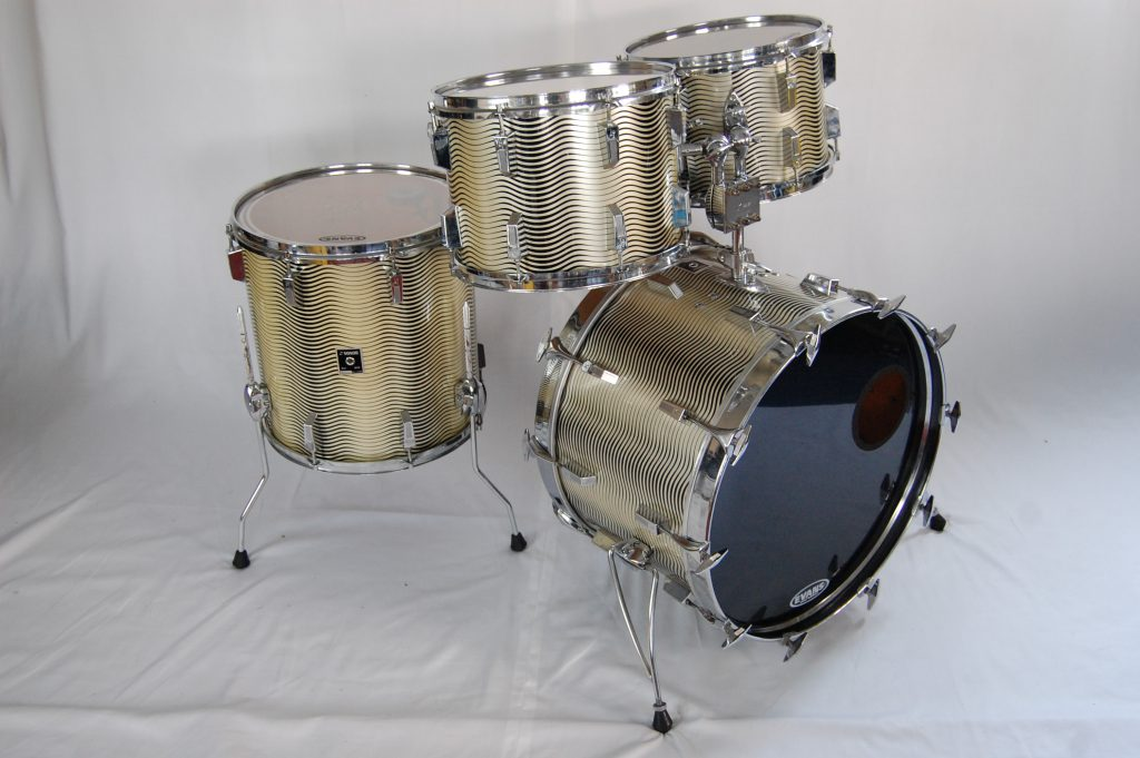 sonor phonic 1970s goldblack wave wrap