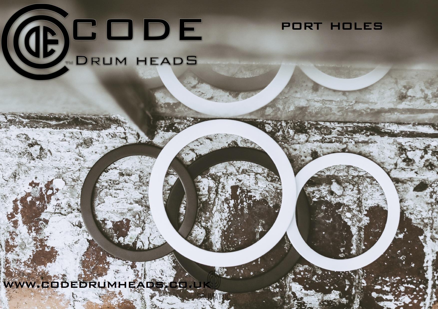bass drum port holes 4 5 black white drumattic. Black Bedroom Furniture Sets. Home Design Ideas