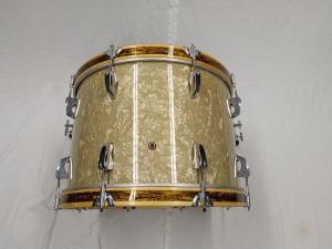 Bass drum, cut down from 22x20 to 22x14, custom hoops